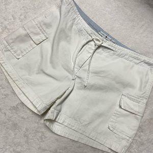 Tommy Hilfiger White Drawstring Bermuda Shorts